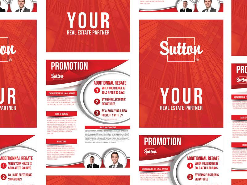 Real Estate Promotional Flyer building home sell red partner ecommerce promotional designer design flyer real estate