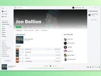 Spotify Light Theme Concept