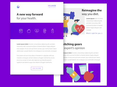 Health Email Newsletter Concept