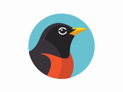 Robin Logo the sum th=sum vancouver logo illustration robin bird