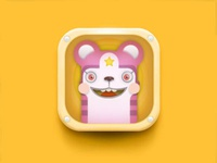 Cute Animal App Icon (Variant) preschool kawaii ios illustration icon cute children child app anthropomorphic animal