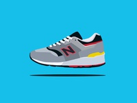 New Balance 997 - shoe illustration sneaker shoe running runners process balance new kicks illustration