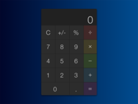 Daily UI Challenge Day 4 - Calculator