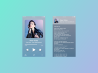 Daily UI Challenge Day 9 - Music Player