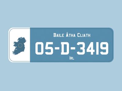 Dublin Licence Plate