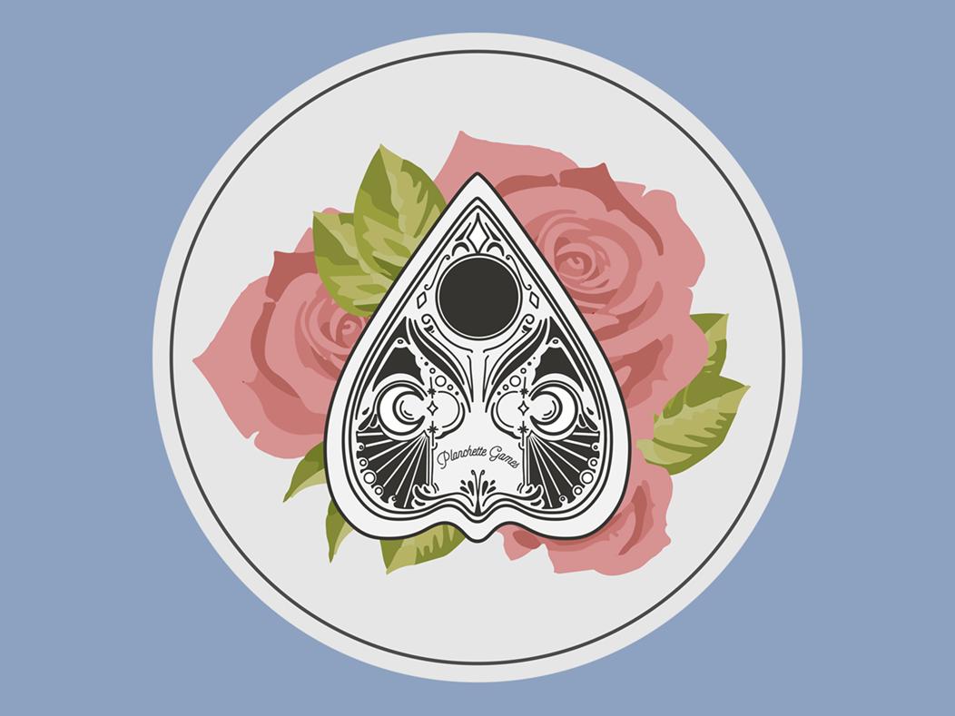 Planchette Games illustrator logo design logo occult planchette