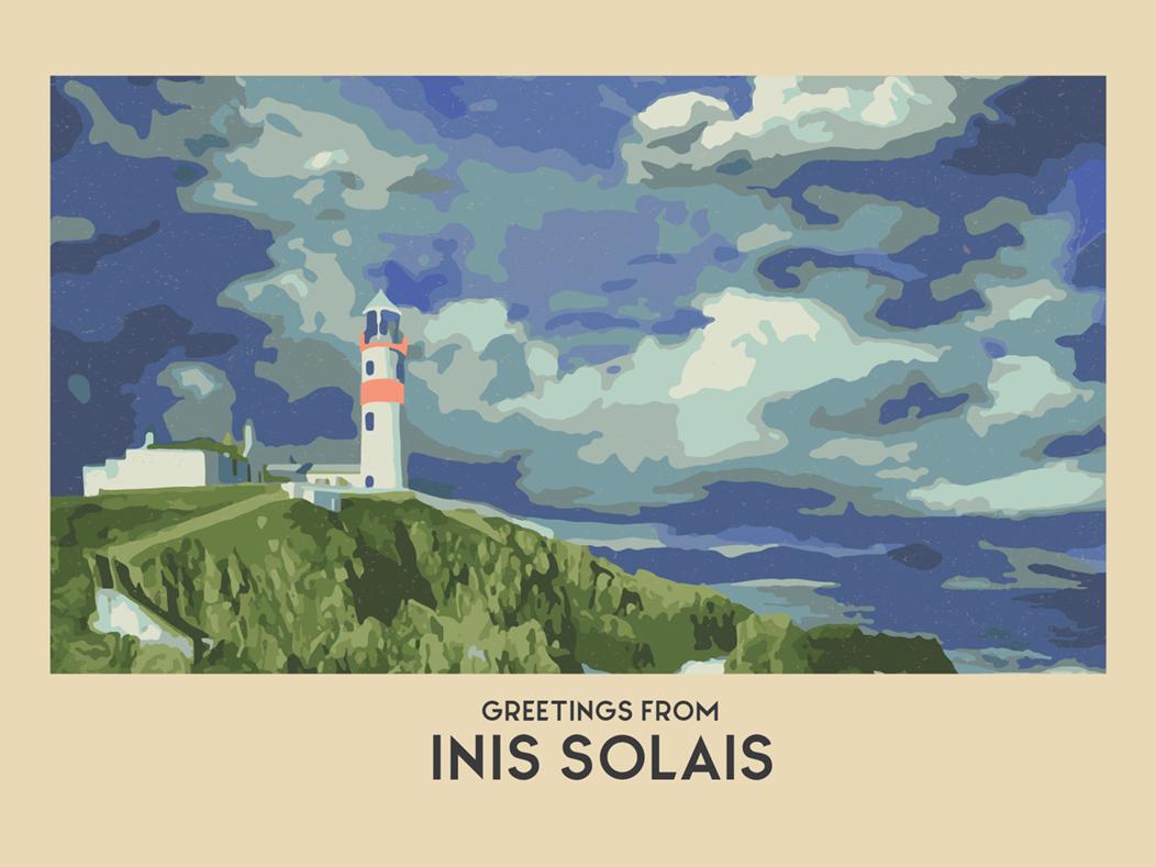 Inis Solais illustration postcard illustrator