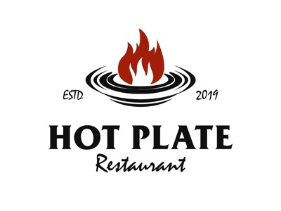 Hot Plate Restaurant Logo beverages art classic identity brand coreldraw adobeillustrator illustration vector elegant branding graphic design logo flame vintage retro restaurant plate hot
