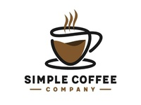Simple coffee company logo