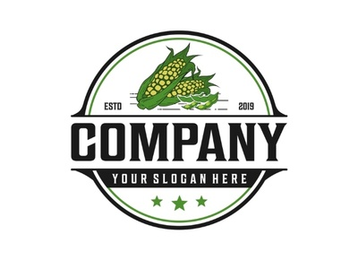 Corn & soybeans vintage logo