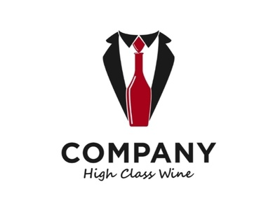 High class wine logo