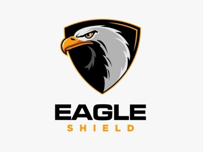 Eagle shield maascot logo