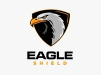 Eagle shield maascot logo