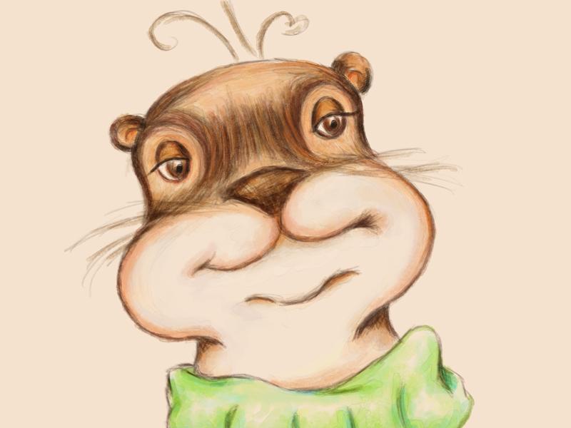 Animal Alphabets Otter character design kidlitart illustration wind and willow otter animal alphabets