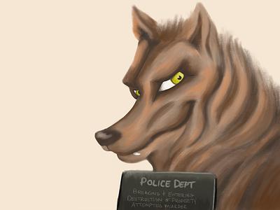 B for Big Bad Wolf character design kidlitart wolf illustration big bad wolf animal alphabets