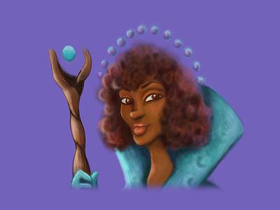 Wizard Illustration purple kidlitart illustration wizard