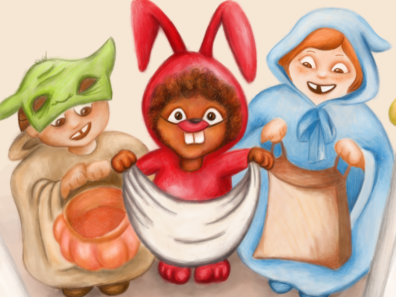 Tricktreat halloween trickortreat kidlitart illustration design character