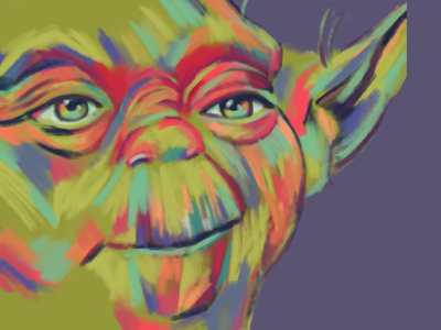 Yoda gouache yoda starwars procreate