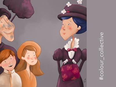Mary Poppins childrenillustration childrensart picturebooks picturebook kidlitart colourcollective marypoppins