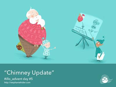 Chimney Update santa christmas illo-advent