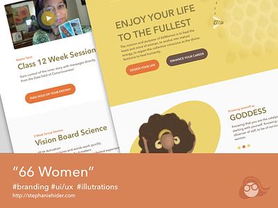 66 Women Redesign illustration uiux lifecoach redesign