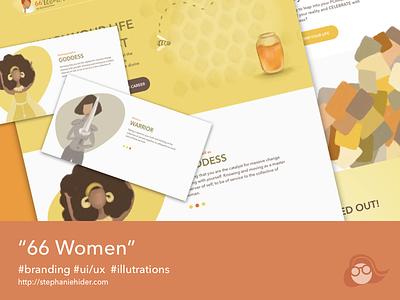 66Women illustrations ux ui website redesign illustrations
