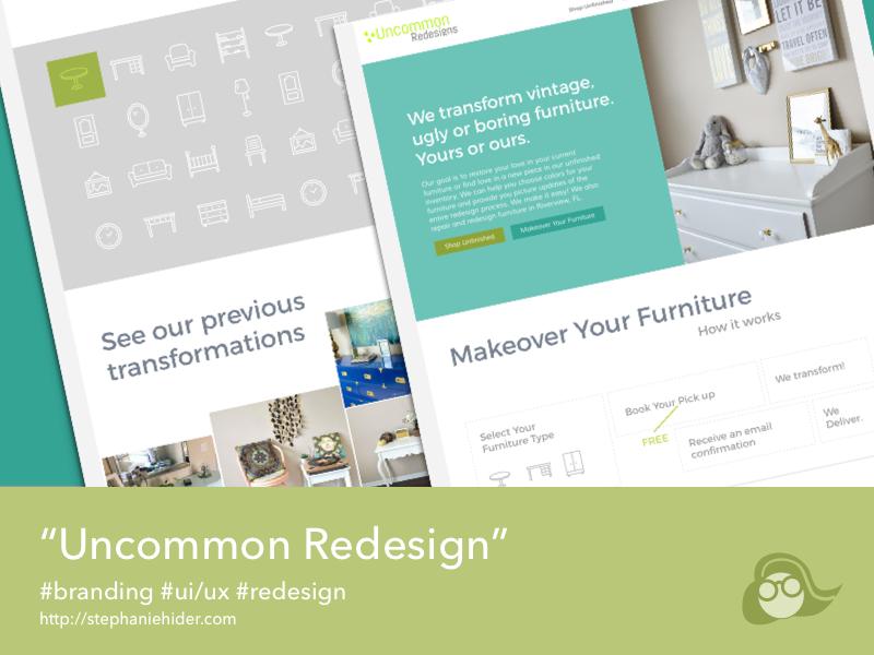 UncommonRedesigns clean website ui redesign