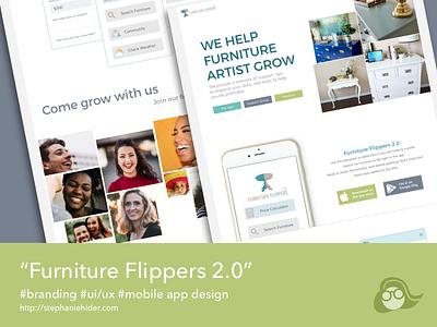 Furniture Flipper 2.0 App app redesign appdesign ux ui