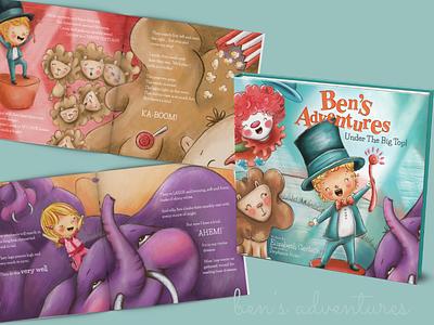 Ben's Adventure special needs circus picture book picturebook kidlitart illustration