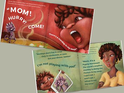 Dancing Monkeys in My Soup kidlitartist kids illustration illustration picturebook picture book kidlit kidlitart