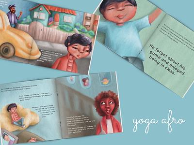 Yoga Afro kids illustration picturebook picture book kidlitart illustration