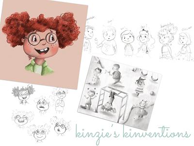 Kinzie's Kinventions kid illustration chapter book illustration kidlitart