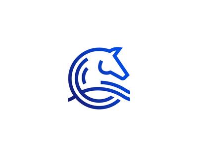 Horse Wave Logo Concept