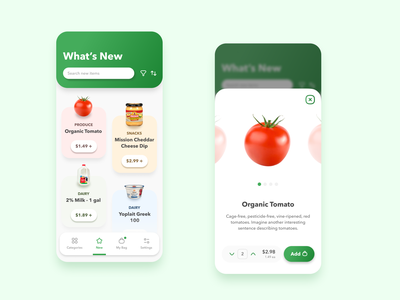 A Colorful Grocery App grocery shopping food design ui ux