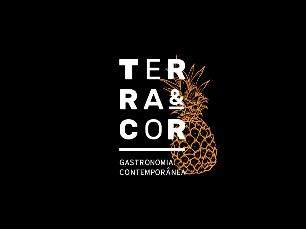 Terra&Cor - Logo health typography restaraunt illustration idendity fruit brand logo