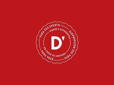 D'VINO - Selo stamp logo wine seal idendity brand
