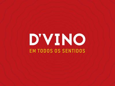 D'VINO - Logo texture wine bar typography idendity brand logo