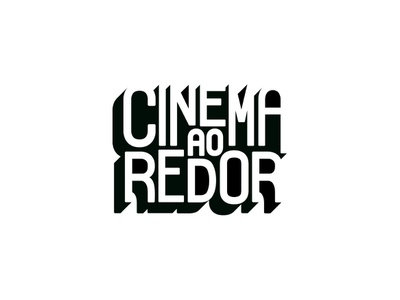 Cinema Ao Redor - Logo 3d shadow black and white movies cinema typography idendity logo
