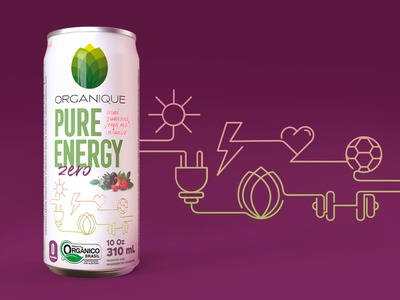 Ice Mate Tea Organique - Label health energy icon illustration organic packing label