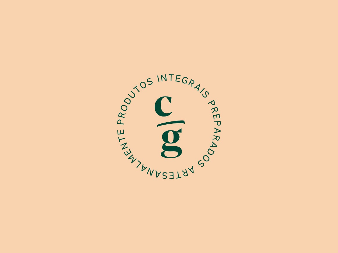 Cozinha em Grãos - Selo food handmade bread nuts seal organic brand typography idendity logo