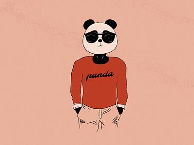 Estampa - Panda texture red panda t-shirt animal illustration
