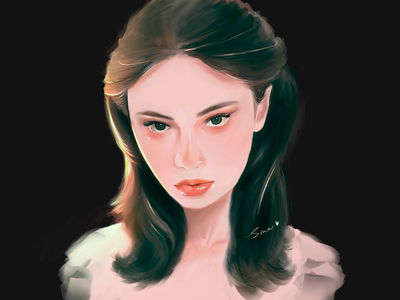 Girl color concept portrait design girl procreate