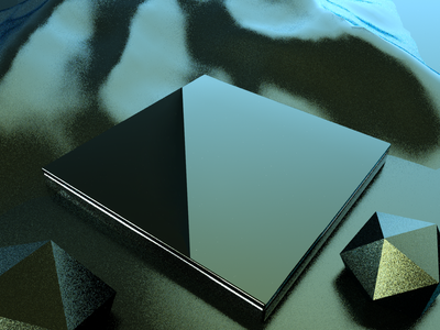 Mirror Surface C4D Work concept color 3d design c4d