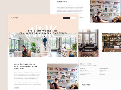 Landing page for co-working company flexworking workplace coworking space landing page landingpage design website web ui