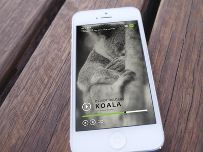 Redesign Spotify player spotify dutch koala redesign iphone ios app apple music player ui user interface