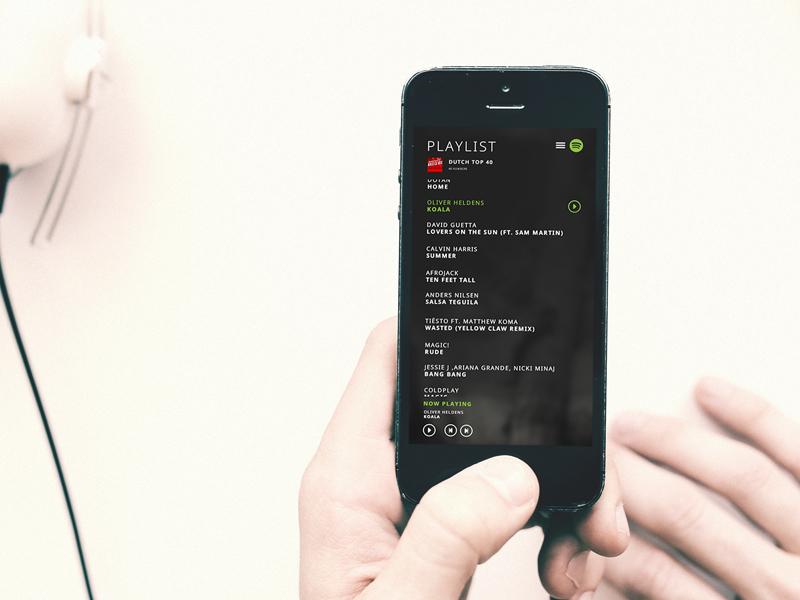 Redesign playlist spotify mobileshow case