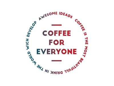 Coffee for everyone political vote 2016 stamp button