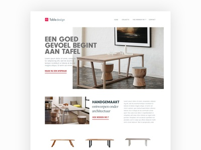 Furniture website ux ui product online store shop table ecommerce website furniture dutch