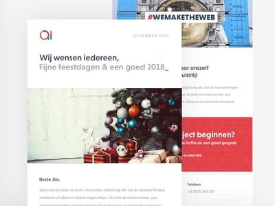 Newsletter design Christmas 2017
