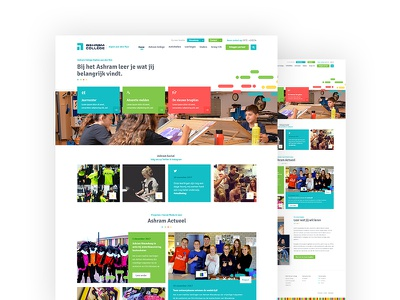 High school Website school site website ui landing instagram header geomatric footer dutch colors agenda abstract